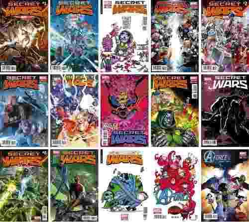 Marvel comics secret wars 1 2 3 5 6 9 variante avengers doom