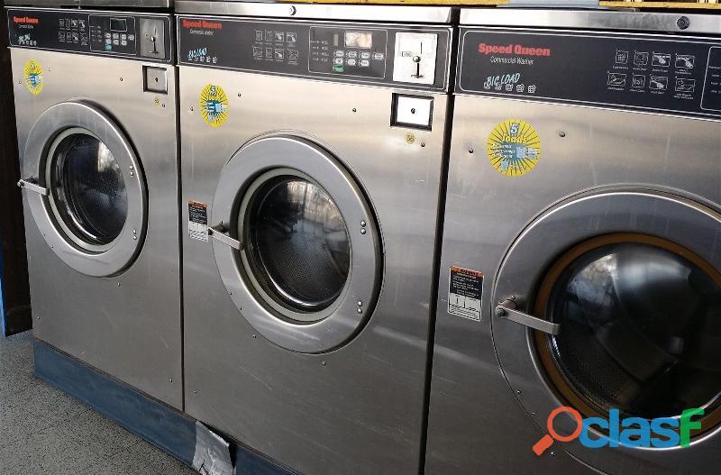 Speed queen lavadora de carga frontal comercial sc50ec usada