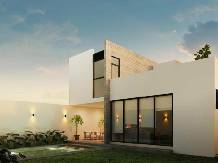 Casa con acabados modernos en venta en conkal