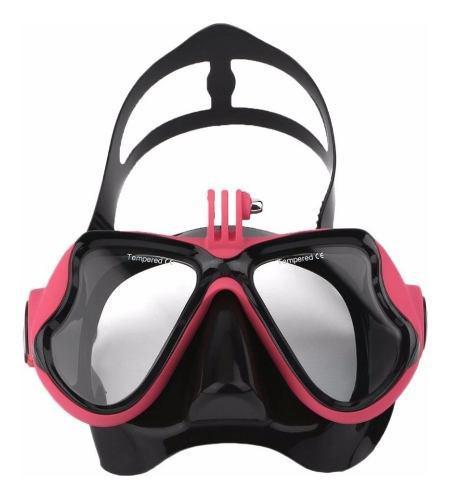 Visor mascara buceo snorkel p camara deportiva go sj4000 pro