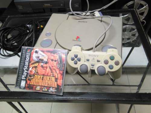 Consola playstation 1 clásico + juego duke nuken buen