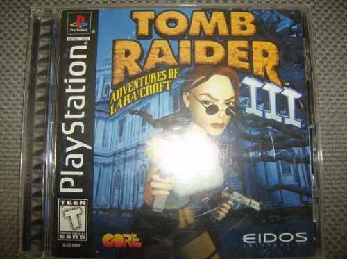 Lote juegos ps1 tomb raider 3 y otros