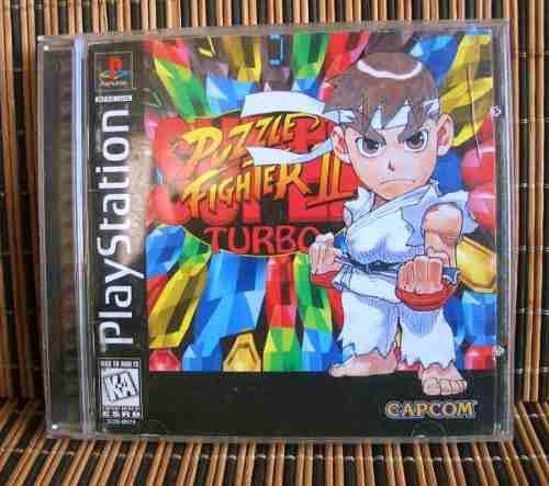 Super puzzle fighter ii turbo - ps1 puzzle - capcom arcade