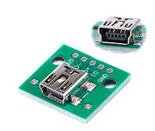 Adaptador de mini usb (v3) a dip placa pcb
