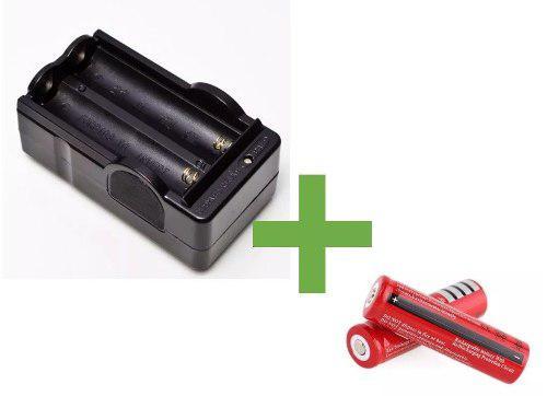 Cargador baterias 18650 y par de pilas ljk 8800 mah 4.2v