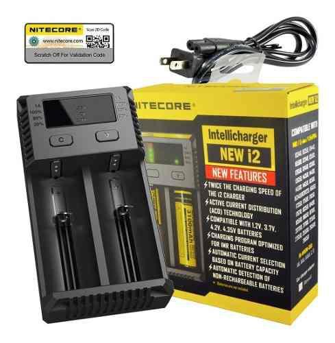 Cargador baterias nitecore i2 para 2 baterias 18650 y 2 bate