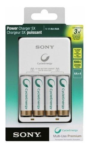 Cargador de baterias sony ni-mh con 4 pilas aa