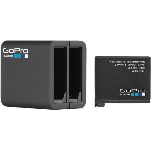 Cargador dual + bateria pila gopro hero 4 black silver origi