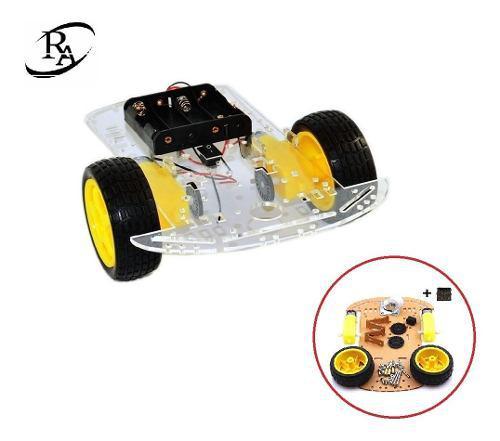 Chasis carro robot 2 llantas seguidor lineas obstaculos