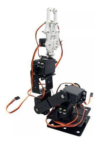 Estructura de brazo robotico con gripper aleación aluminio