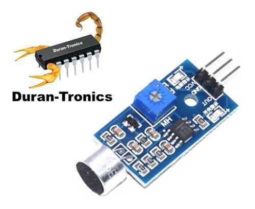 Módulo sensor detector de sonido y aplausos fc04 arduino