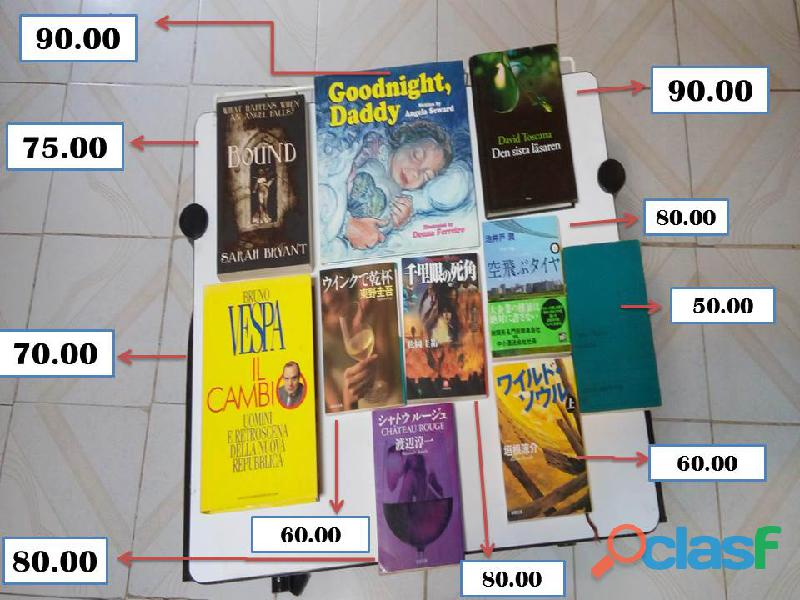 Libros en diferentes idiomas