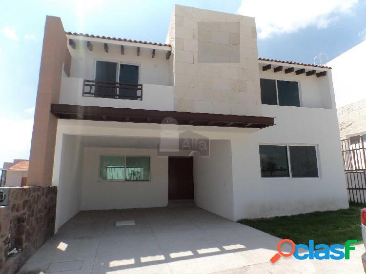 Casa nueva en venta la vista residencial, querétaro en condominio, 4 habitaciones-1 en planta baja