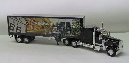 1:32 kenworth w900 aerocab c caja seca route 66 new ray