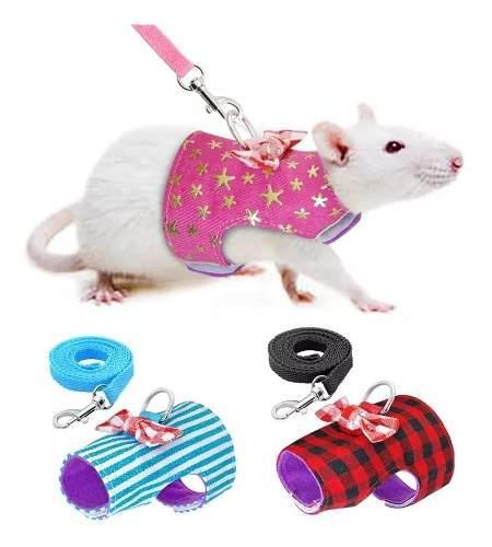 Arnes pechera roedores ratas conejos ardilla hamster correa
