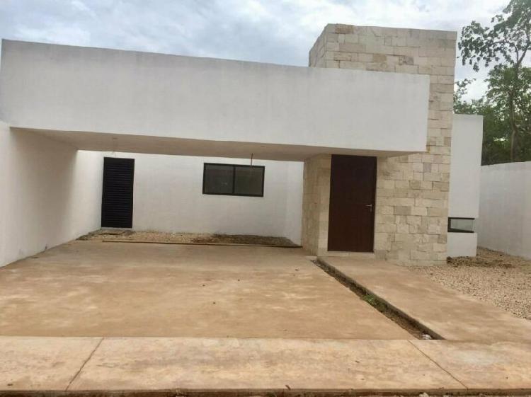 Casa de una planta ubicada en conkal