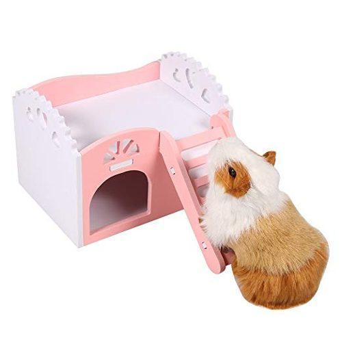 Hamster casa, escondite hut para el castillo de animales peq