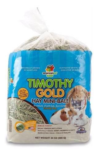 Heno de timothy american pet gold, conejo, chinchilla, cuyo