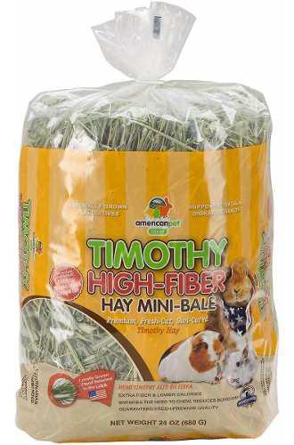 Heno timothy american alto en fibra conejo chinchilla cuyo