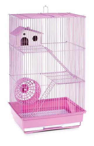 Jaula extra grande hamster resbaladilla bebedero rueda vbf