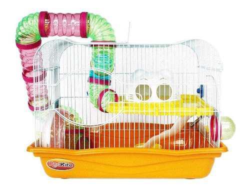 Jaula fresno i i i p/hamster con rueda y bebedero
