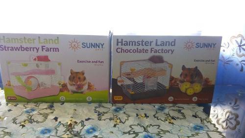 Jaula hamster land adventure 36x26x33cm raton hogar