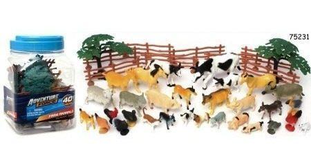 Juguetes animalitos de granja paq 2 en miniatura 80 pzs