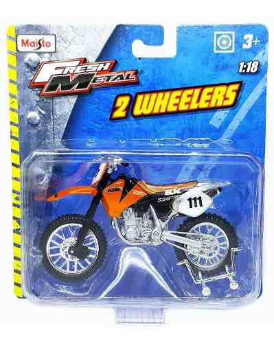 Ktm 520 sx motos a escala 1/18 maisto metal coleccion