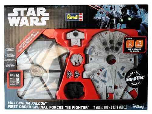 Star wars naves millennium falcon y tie fighter para armar