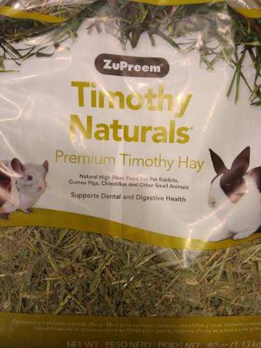 Zupreem heno pasto timothy 1.13kg conejos cuyos chinchillas
