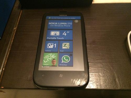 Nokia 510 lumia color negro. nuevo telcel. $1999 con envio.