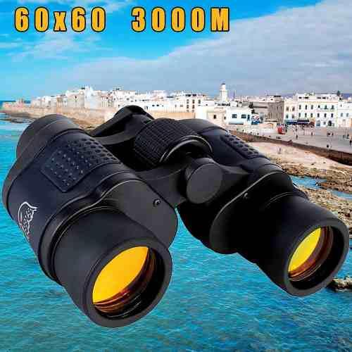 /óptica port/átil HD para exteriores Zoom Zoom Ajuste manual D/ía Noche Transporte Trabajo de campo Viajes Binocular 60X con coordenadas