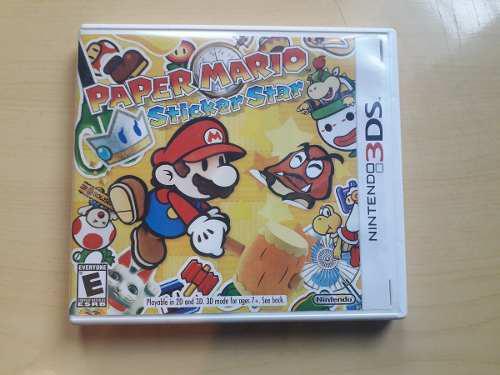 Juegos nintendo 3ds y 2ds paper mario sticker star