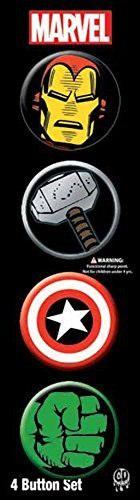 Licencias productos marvel comics retro 4 1.25 button set