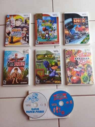 Lote video juegos para nintendo wii