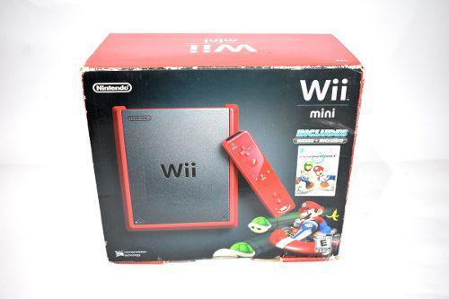 Mini wii edición mario nintendo rojo en caja completo