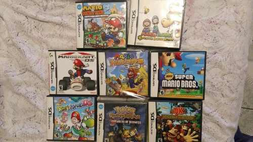 Nintendo ds 7 juegos mario,pokemon,donkey kong