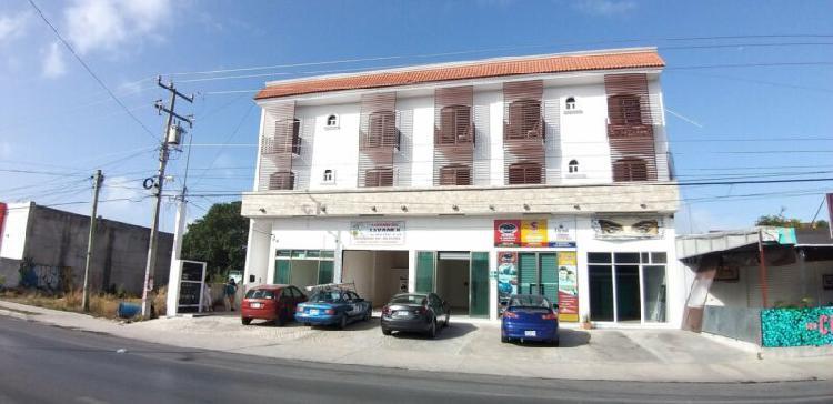 Playa del carmen, edificio comercial 2 frentes, 5 locales y