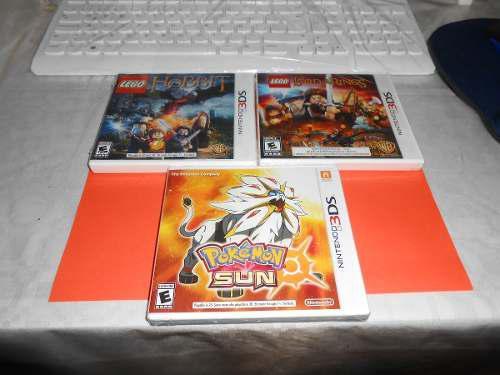 Pokemon sun nuevo y 2 juegos de lego nuevos de 3ds