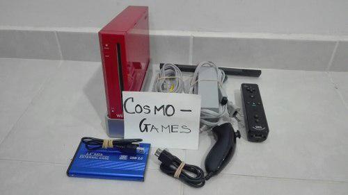 Wii roja 320gb + 4000 juegos instalados + wii motion nunchuk