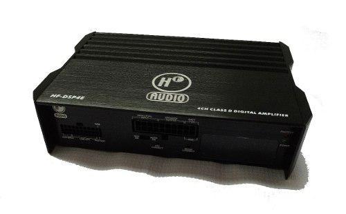 Amplificador dsp tecnologia 4 canales bluetooth movil ajuste