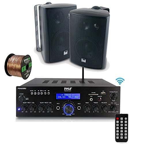 Audio wifi pyle pda65bu amplificador receptor estéreo, blu
