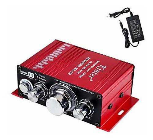 Car audio amplificador con cable de alimentación dc 12v 3a,