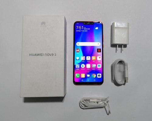 Huawei nova 3, par-lx9, rojo, como nuevo, en caja, liberado
