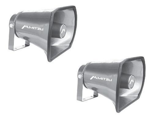 Par de trompeta de aluminio para perifoneo voceo 350w 1010