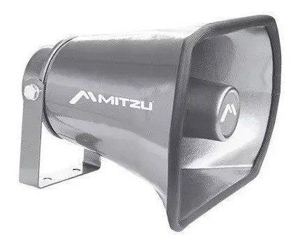 Trompeta de aluminio para perifoneo voceo 350w mitzu 1010