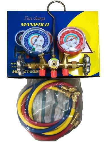 Juego manómetros refrigeración r134a r22 r404 r407 uso