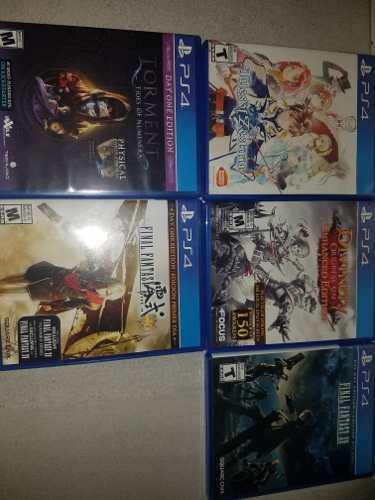 Juegos ps4, final fantasy xv, tales of zestiria etc