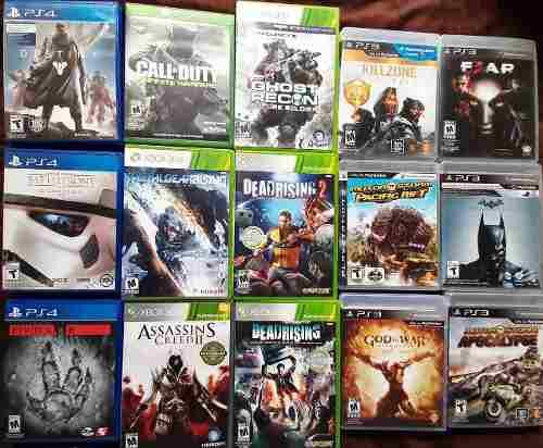 Juegos varios 16 en total usados ps4 ps3 xbox one xbox 360