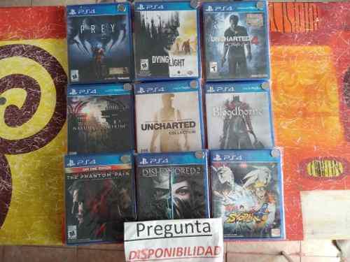 Lote de juegos ps4 a elegir, precio x cada uno